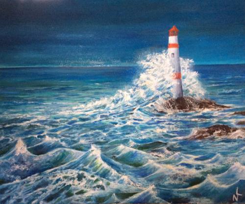 "Peinture ""Phare breton"""