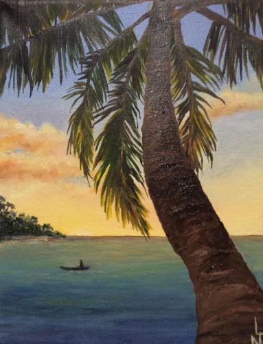 """Peinture """"Tahiti"""""""