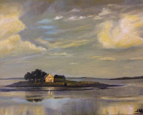 """Peinture """"Le Morbihan"""""""