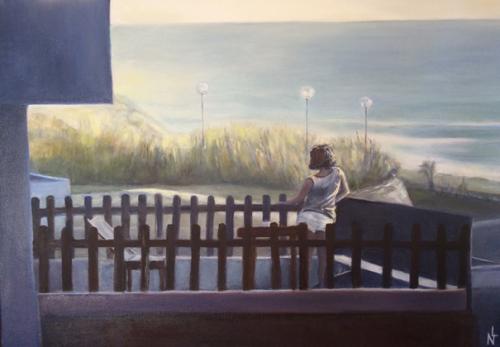 """Peinture """"Merci la vie"""""""