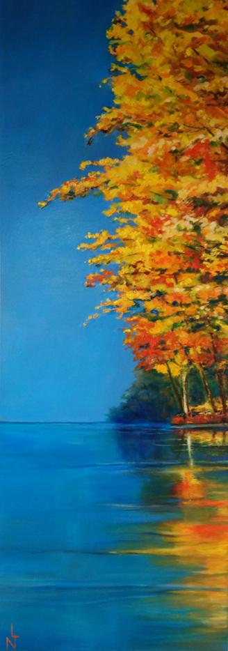 "Peinture ""Reflet automnal"""