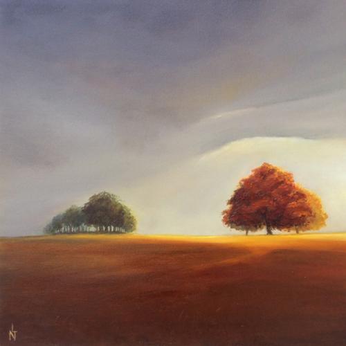 """Peinture """"ciel d'orage"""""""