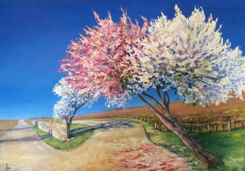 """Peinture """"le printemps a Bouscaut"""""""
