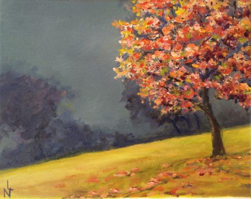 """Peinture """"Petit cerisier"""""""