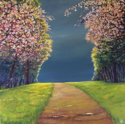 "Peinture ""Cerisiers"""
