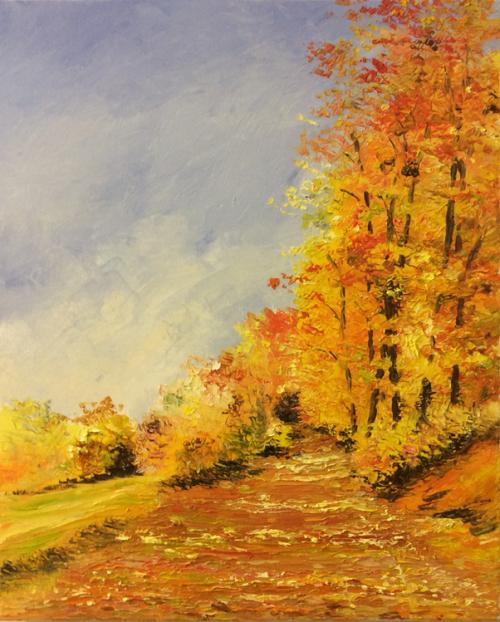 """Peinture """"Les feuilles d'automne"""""""