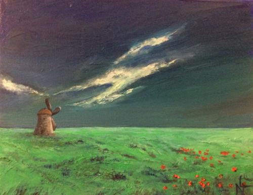 """Peinture """"Le Moulin"""""""
