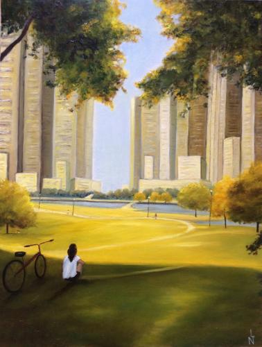 """Peinture """"Vue sur Central Park"""""""