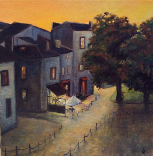 """Peinture """"Place Renaudel"""" à Bordeaux"""