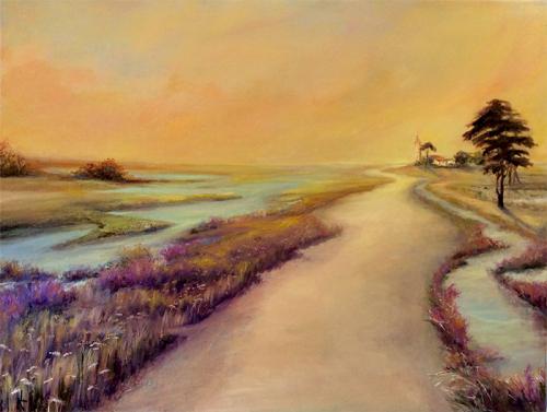 "Peinture ""Sentier du marais"""