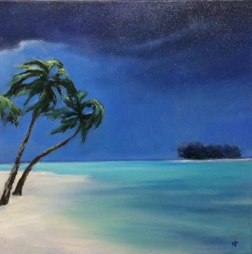 """Peinture """"un petit coin de paradis"""""""